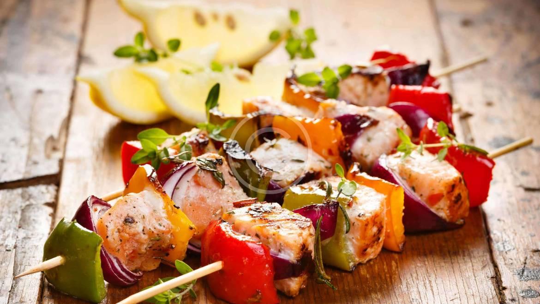 Fish Kebab with Vegetables
